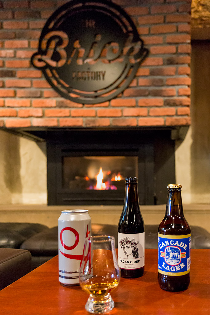 Local Tasmanian Beers and fire place