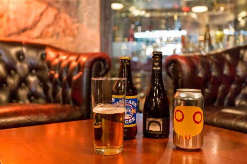 Local beers available.
